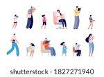 reading characters. teenager... | Shutterstock .eps vector #1827271940