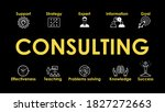 consulting illustration with... | Shutterstock .eps vector #1827272663