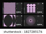 brutalism inspired graphic... | Shutterstock .eps vector #1827285176