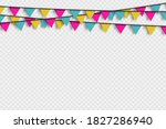 bunting hanging banner with... | Shutterstock .eps vector #1827286940