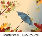 Gray Umbrella Against The Sky...