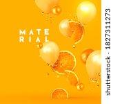 orange fruit realistic design... | Shutterstock .eps vector #1827311273