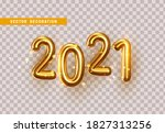 2021 gold numbers for new year... | Shutterstock .eps vector #1827313256