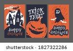 halloween party   cute hand... | Shutterstock .eps vector #1827322286