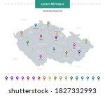 czech republic map with... | Shutterstock .eps vector #1827332993