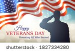 happy veterans day banner.... | Shutterstock .eps vector #1827334280