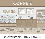cafe graphic color interior... | Shutterstock .eps vector #1827356336