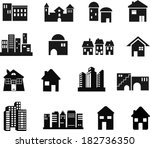 architectural and building icons | Shutterstock .eps vector #182736350