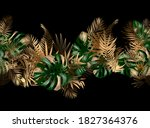 tropical unusual color leaves.... | Shutterstock .eps vector #1827364376