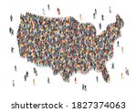 usa map made of many people ...   Shutterstock .eps vector #1827374063
