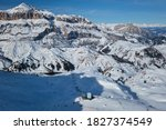 View Of A Ski Resort Piste Wit...