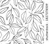 black brush outline leaves and... | Shutterstock .eps vector #1827378509