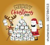 merry  christmas 2020  funny...   Shutterstock .eps vector #1827386513