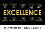 excellence   banner with 10 web ... | Shutterstock .eps vector #1827412346