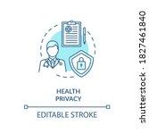health privacy concept icon....   Shutterstock .eps vector #1827461840
