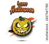 happy halloween. template... | Shutterstock .eps vector #1827467780