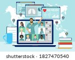 medical professionals remotely... | Shutterstock .eps vector #1827470540