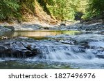 Cascade Of Small Waterfalls And ...