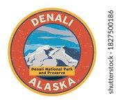 denali peak at denali national... | Shutterstock .eps vector #1827500186