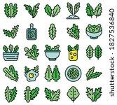 arugula icons set. outline set... | Shutterstock .eps vector #1827536840