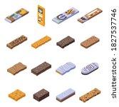 snack bar icons set. isometric... | Shutterstock .eps vector #1827537746