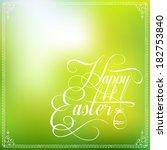happy easter typographical... | Shutterstock . vector #182753840