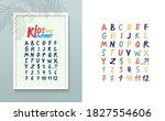set of abc alphabet fancy... | Shutterstock .eps vector #1827554606
