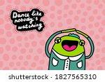 dance line nobody watching hand ... | Shutterstock .eps vector #1827565310