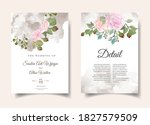 wedding invitations with the...   Shutterstock .eps vector #1827579509