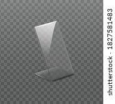acrylic empty plastic holder...   Shutterstock .eps vector #1827581483