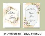 beautiful wedding invitation... | Shutterstock .eps vector #1827595520