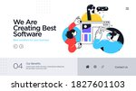landing page template of... | Shutterstock .eps vector #1827601103