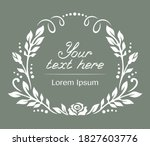white frame with a floral... | Shutterstock .eps vector #1827603776