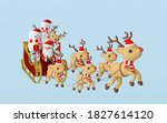 merry christmas and happy new...   Shutterstock . vector #1827614120
