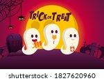happy halloween trick or treat... | Shutterstock .eps vector #1827620960