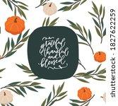 thanksgiving pumpkin seamless...   Shutterstock .eps vector #1827622259