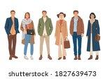 set of young men and women... | Shutterstock .eps vector #1827639473