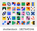 abstract vector shapes... | Shutterstock .eps vector #1827645146