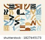 hand drawn pattern design... | Shutterstock .eps vector #1827645173