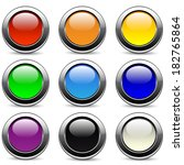 set of buttons | Shutterstock . vector #182765864