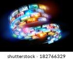 smart media world. connected... | Shutterstock . vector #182766329