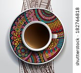 vector illustration with a cup...   Shutterstock .eps vector #182766818