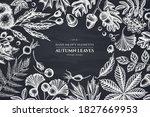 monochrome design with chalk... | Shutterstock .eps vector #1827669953