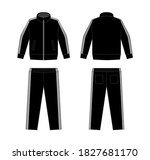 casual jersey suits  for sports ... | Shutterstock .eps vector #1827681170