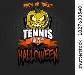 happy halloween. template... | Shutterstock .eps vector #1827683540