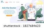 online doctor consultation via... | Shutterstock .eps vector #1827684623