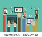 mobile apps concept. mobile... | Shutterstock .eps vector #182769413
