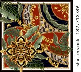 design scarf with baroque... | Shutterstock .eps vector #1827713789