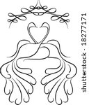 kissing peacocks | Shutterstock .eps vector #18277171