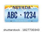american nevada car license... | Shutterstock .eps vector #1827730343